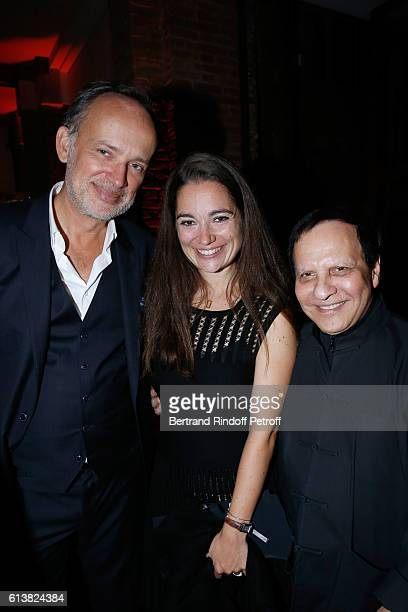 CEO of Shiseido EMEA Louis Desazars Nose of the Perfume Marie Salamagne and Azzedine Alaia attend Azzedine Alaia presents his new Perfume 'Alaia Eau...