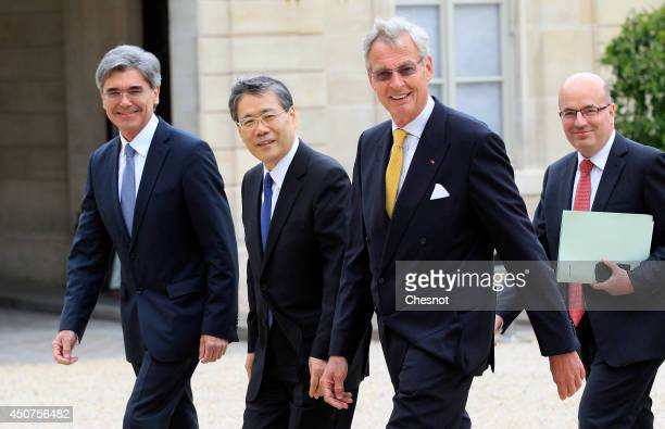R CEO of Siemens AG Joe Kaeser CEO of Mitsubishi Heavy Industries Shunichi Miyanaga Chairman of the Supervisory Board of Siemens AG Gerhard Cromme...