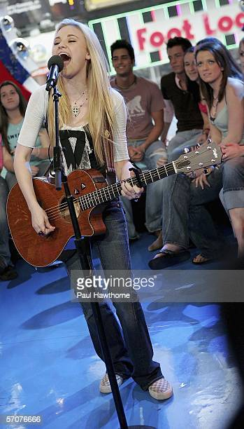 Of sister singing act Aly and AJ, appears on MTV's Total Request Live at MTV's Time Square Studios March 13, 2006 in New York City.