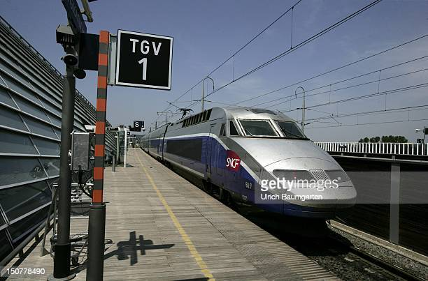 TGV of SNCF French National Railway Corporation in the station of Avignon