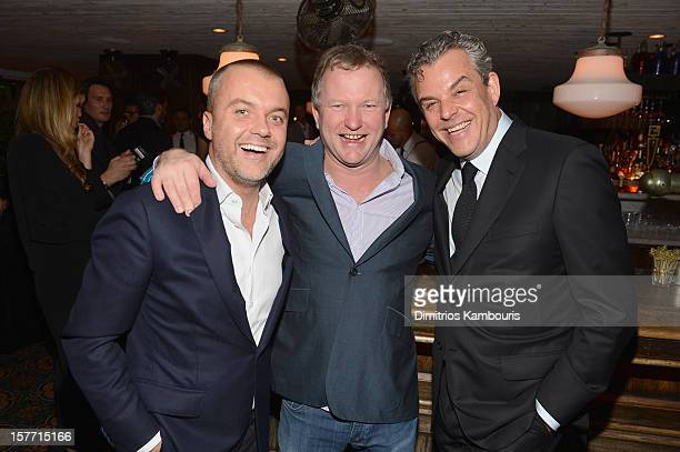 COO of Soho House Martin Kuczmarsk Founder of Soho House Nick Jones and actor Danny Huston attend a dinner and auction hosted by CHANEL to benefit...