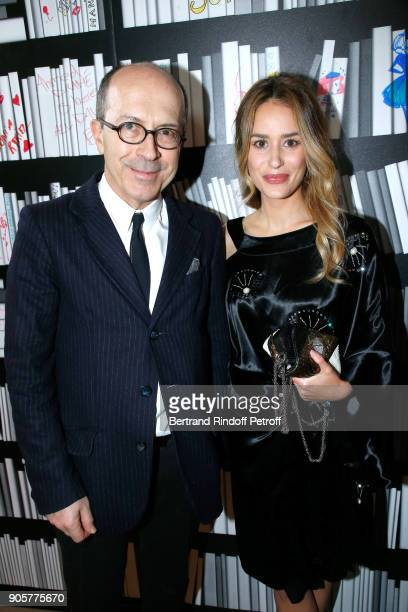CEO of Sonia Rykiel JeanMarc Loubier and actress Alice David attend the Manifesto Sonia Rykiel 5Oth Birthday Party at the Flagship Store Boulevard...