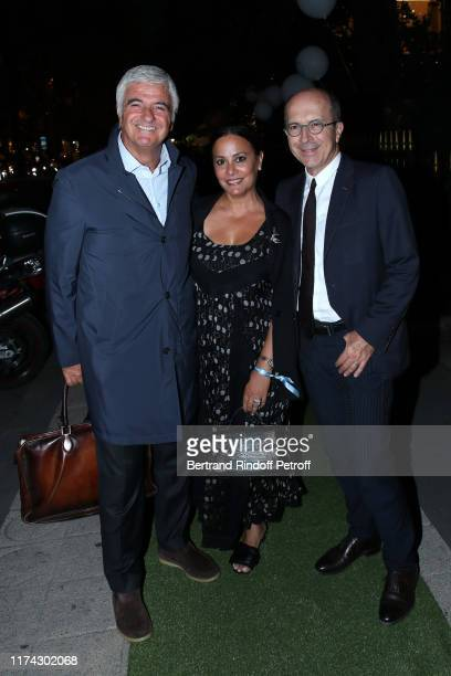 CEO of Sonia Rykiel JeanMarc Loubier his wife Hedieh Loubier and General manager of LVMH Antonio Belloni attend the 'Vendanges Montaigne 2019' Avenue...