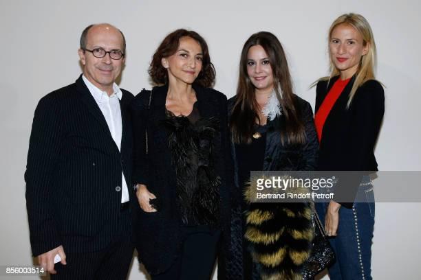CEO of Sonia Rykiel JeanMarc Loubier Nathalie Rykiel Hedieh Loubier and Lola BursteinRykiel attend the Sonia Rykiel show as part of the Paris Fashion...