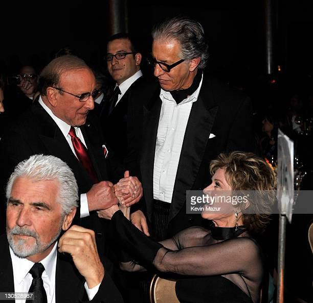 CEO of Sony Music Entertainment Worldwide Clive Davis Richard Perry and Jane Fonda at the 52nd Annual GRAMMY Awards Salute To Icons Honoring Doug...