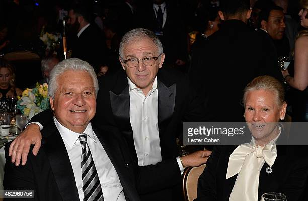 CEO of Sony/ATV Martin Bandier manager Irving Azoff and Dorothy Bandier attend the PreGRAMMY Gala and Salute to Industry Icons honoring Martin...