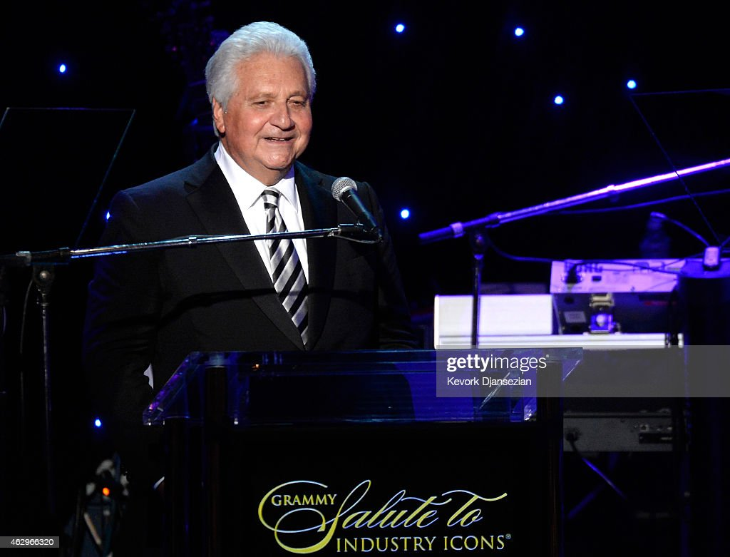 CEO of Sony/ATV Martin Bandier speaks onstage during the Pre-GRAMMY Gala and Salute To Industry Icons honoring Martin Bandier at The Beverly Hilton Hotel on February 7, 2015 in Beverly Hills, California.