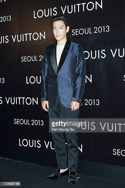 Of South Korean boy band Bigbang attends the 'Louis Vuitton' Hyundai Department Store Global Store Grand Opening Party at the Horim Art Center on...