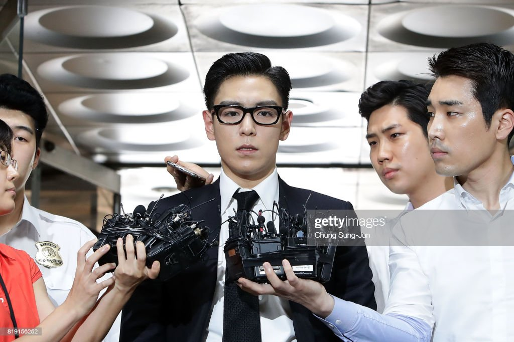 BIGBANG Member T.O.P. Appears At Seoul Central District Court