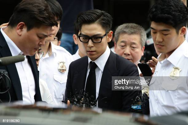 Of South Korean boyband Big Bang leaves after attending a verdict hearing at the Seoul Central District Court on his marijuana usage case on July 20,...