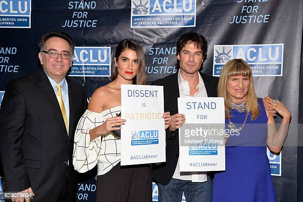 ACLU of Southern California Executive Director Hector Villagra actors Nikki Reid and Ian Somerhalder and director Catherine Hardwicke attend ACLU...