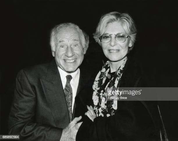 ACLU of Southern California Torch of Liberty Dinner 1996 Mel Brooks and Anne Bancroft pause for a photograph at the ACLU Torch of Liberty Dinner...