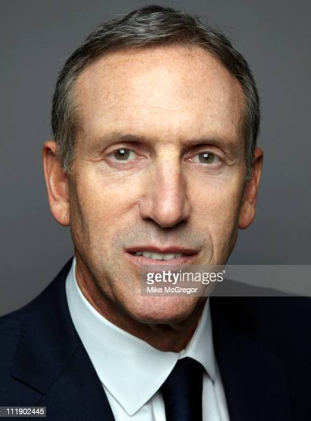 CEO of Starbucks Howard Schultz is photographed for Bloomberg Businessweek on April 4 2011 in New York City