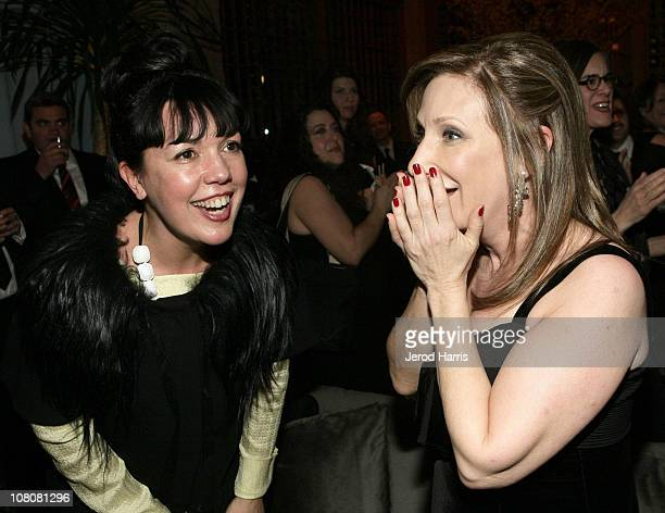 EVP GM of Sundance Channel Sarah Barnett and Sundance Channel EVP of Communications Ellen Kroner attend AMC's 2011 Golden Globe Awards Party held at...