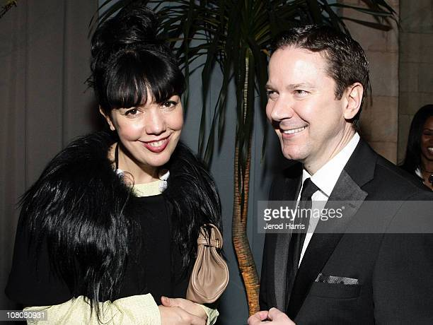 EVP GM of Sundance Channel Sarah Barnett and Vice president for original programming and development Michael Klein attend AMC's 2011 Golden Globe...