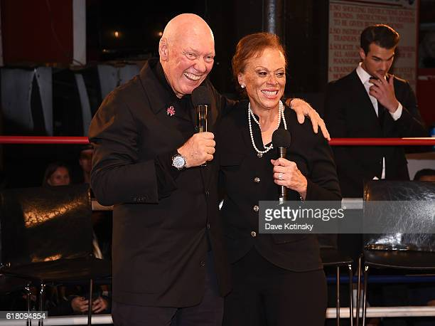 CEO of TAG Heuer JeanClaude Biver and Lonnie Ali attend the Muhammad Ali tribute event at Gleason's Gym on October 25 2016 in New York City