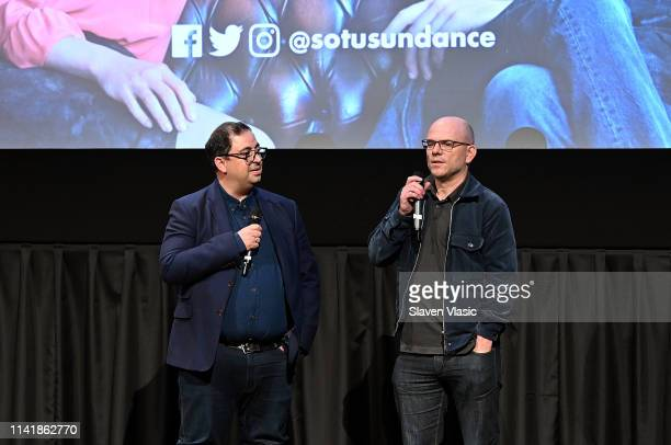COO of Television at See Saw Films Hakan Kousetta and executive producer of See Saw Films Jamie Laurenson attend screening and panel of Sundance TV's...