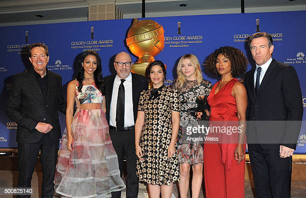 EVP of Television for Dick Clark Productions Barry Adelman Corinne Bishop President of the Hollywood Foreign Press Association Lorenzo Soria America...