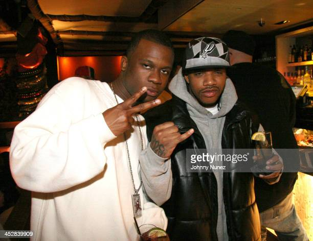 DJ LV of Terror Squad and TA of Terror Squad during Baby Shower for Lorena Rios Fat Joe's Wife at Cain in New York New York United States