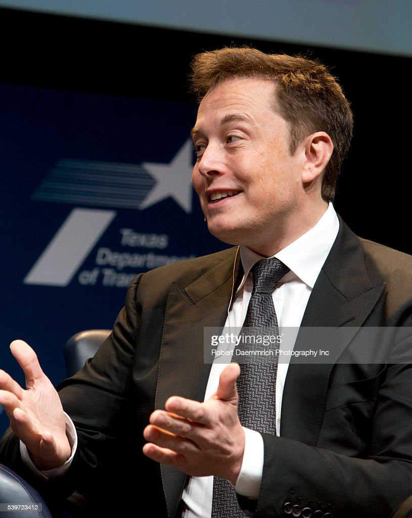 CEO of Tesla Motors and SpaceX, Elon Musk speaks at the