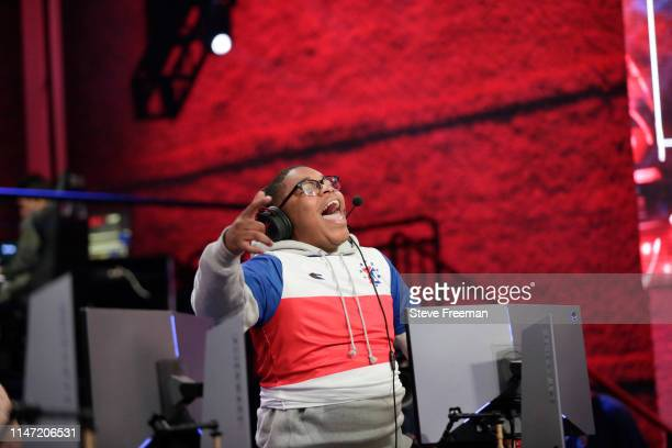 ZDS of the 76ers Gaming Camp reacts during the match against Mavs Gaming during Week 7 of the NBA 2K League regular season on May 31 2019 at the NBA...
