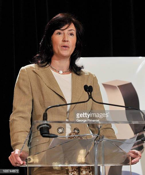 Of the Academy of Canadian Cinema & Television Sara Morton attends the 25th Annual Gemini Awards Press Conference at Sutton Place Hotel on August 31,...