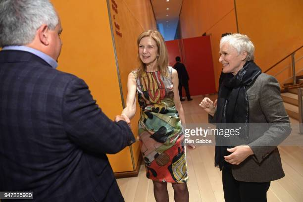 CEO of the Academy of Motion Picture Arts and Sciences Dawn Hudson and actor Glenn Close attend the Academy Museum Conversation at The Times Center...