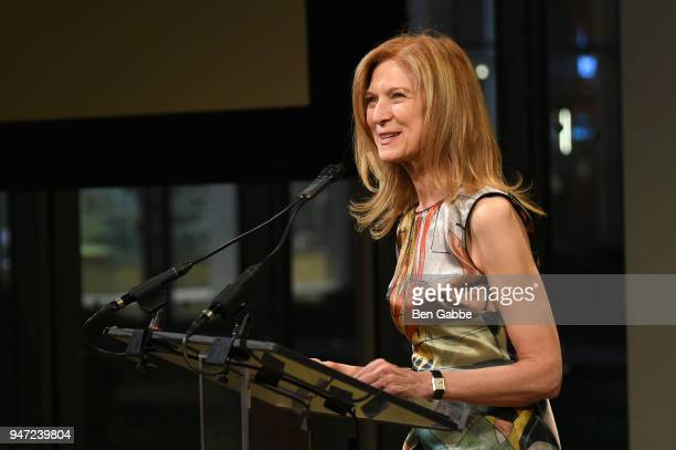 CEO of the Academy of Motion Picture Arts and Sciences Dawn Hudson speaks onstage during the Academy Museum Conversation at The Times Center...