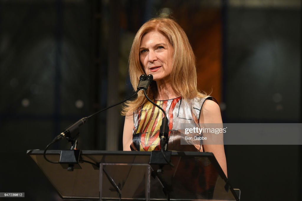 CEO of the Academy of Motion Picture Arts and Sciences Dawn Hudson speaks onstage during the Academy Museum Conversation at The Times Center, featuring Whoopi Goldberg, Kerry Brougher and Renzo Piano on April 16, 2018 in New York City.