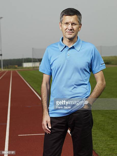CEO of the Adidas group Herbert Hainer poses for a portrait shoot in Herzogenaurach for Stern magazine on May 29 2008