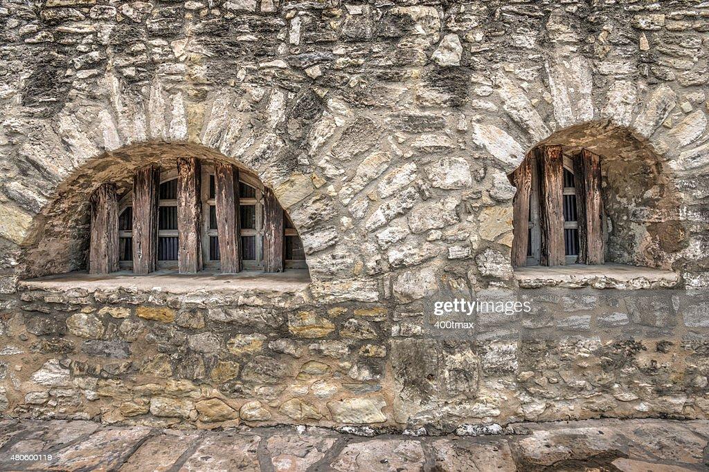 HDR of the Alamo Windows : Stock Photo