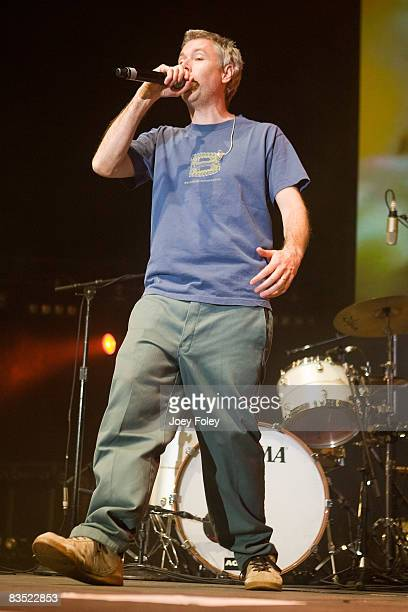 MCA of The Beastie Boys performs on stage in the Get Out and Vote '08 concert at the Hara Arena on October 30 2008 in Dayton Ohio