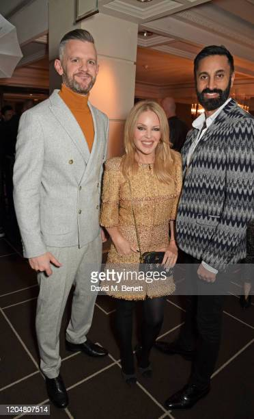CEO of the BFI Ben Roberts Kylie Minogue and Randeep Sidhu attend the BFI Chairman's dinner awarding Tilda Swinton with a BFI Fellowship at Rosewood...