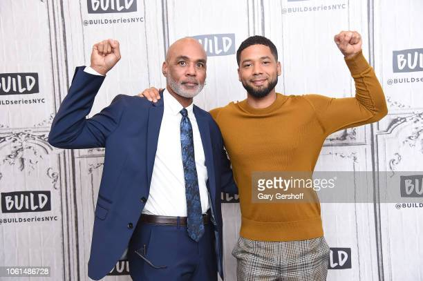 Of The Black AIDS Institute Phill Wilson and actor and activist Jussie Smollett visits Build Series to discuss the TV show 'Empire' and his work for...
