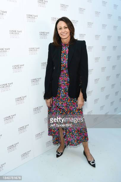 Of the British Fashion Council, Caroline Rush attends the Conde Nast College BA Fashion Communication Graduate Exhibition during London Fashion Week...