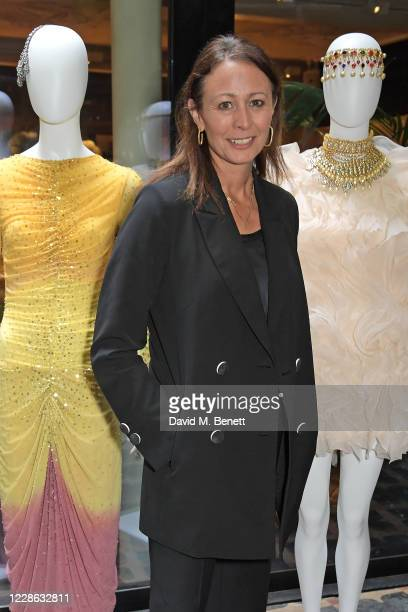 Of the British Fashion Council Caroline Rush attends the OSMAN presentation during London Fashion Week September 2020 at The Mandrake Hotel on...