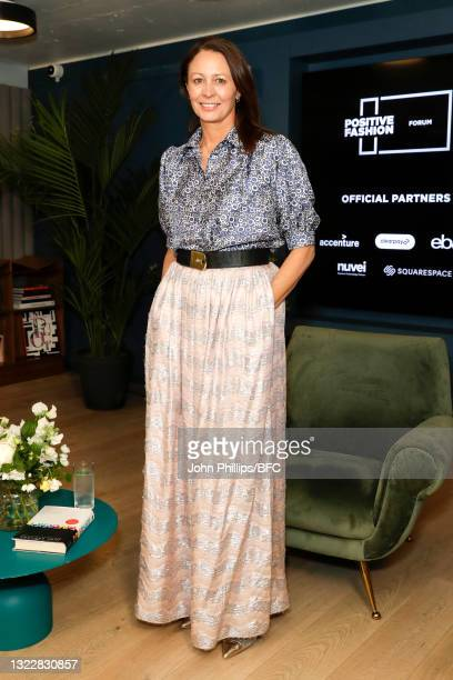 Of the British Fashion Council Caroline Rush during the BFC's Institute of Positive Fashion Forum on June 10, 2021 in London, England.