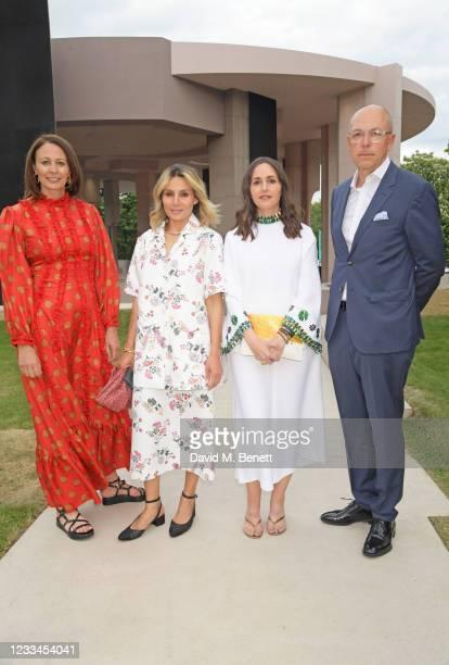 Of the British Fashion Council Caroline Rush, Narmina Marandi, Tania Fares and Editor of GQ Dylan Jones attend a drinks reception celebrating 2021...