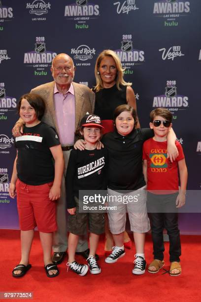 CEO of the Carolina Hurricanes Peter Karmanos and guests arrive at the 2018 NHL Awards presented by Hulu at the Hard Rock Hotel Casino on June 20...