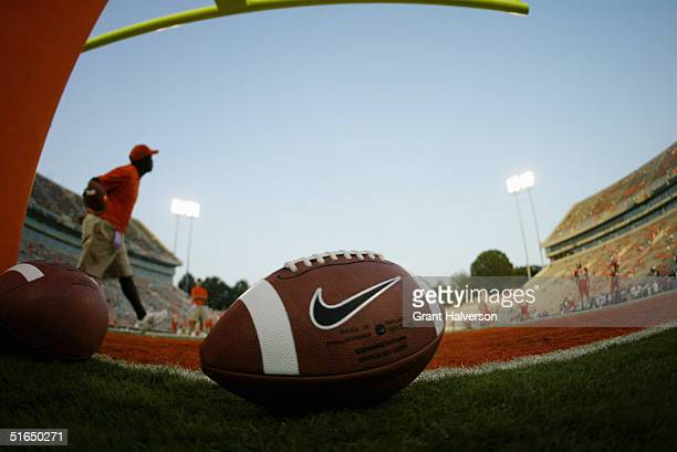 of the Clemson University Tigers of the Georgia Tech Yellow Jackets during an Atlantic Coast Conference game on September 11 at Clemson Memorial...