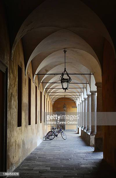 A of the cloister of the university of Pavia on January 5 2012 in Pavia Italy Pavia is a town of the Lombardy region northern Italy It´s the home of...