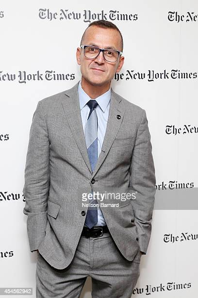 CEO of the Council of Fashion Designers of America Steven Kolb attends the New York Times Vanessa Friedman and Alexandra Jacobs welcome party on...