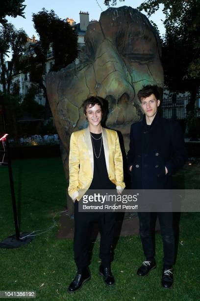 DJ of the event Agathe Mougin and Vladimir Schall attend the ANDAM Cocktail Party as part of the Paris Fashion Week Womenswear Spring/Summer 2019 at...