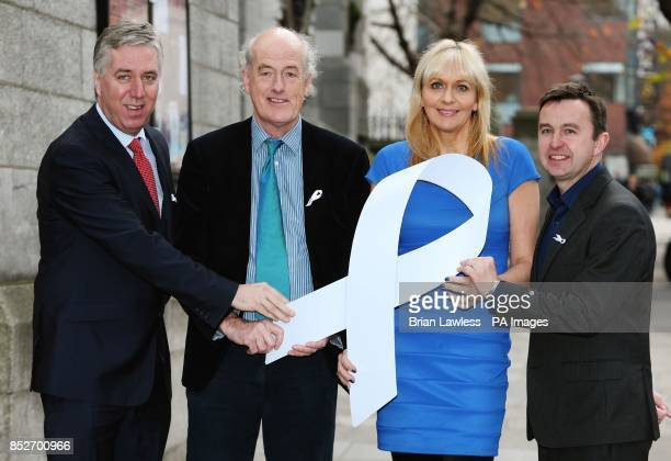 CEO of the FAI John Delaney Miriam O'Callaghan Alan O'Neill CE0 of the Men's Development Network and Minister Brian Hayes TD at a reception to mark...