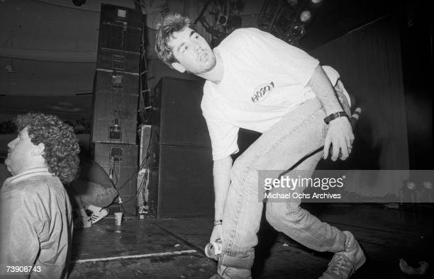 MCA of the hip hop group the Beastie Boys performs live at the Hollywood Palladium Hollywood California 7th February 1987