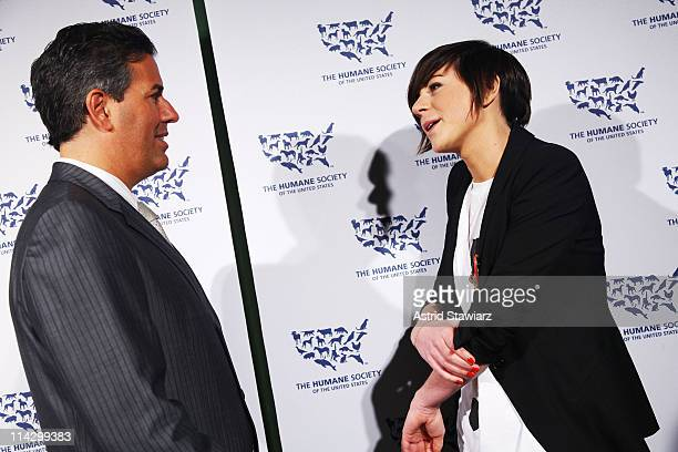 Of The Humane Society of the United States Wayne Pacelle and Designer Ingrid Bergstrom-Kendrick attend The Humane Society of the United States & The...