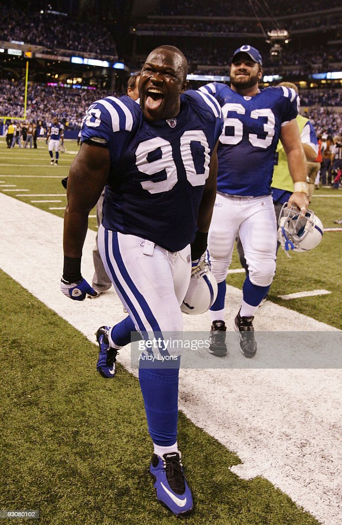 of the Indianapolis Colts against the New England Patriots during the game at Lucas Oil Stadium on November 15, 2009 in Indianapolis, Indiana.