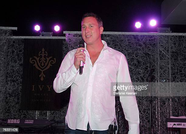 CEO of the Ivy Hotel Michael Kelly speaks at day two of the Ivy Hotel Premiere on August 25 2007 in San Diego California