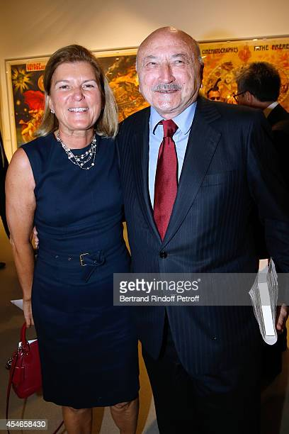 CEO of the 'Jerome Seydoux Pathe Foundation' Sophie Seydoux and lawyer Georges Kiejman attend the 'Jerome Seydoux Pathe Foundation' Opening party on...