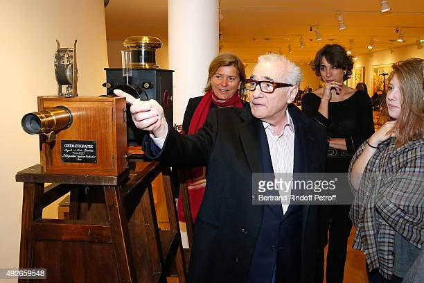 CEO of the 'Jerome Seydoux Pathe Foundation' Sophie Seydoux Martin Scorsese and his daughter Francesca Visit the 'Jerome Seydoux Pathe Foundation' on...